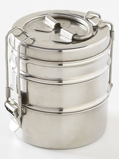 9f8ffe2d5805 Vintage stainless steel stackable lunch canister | 80s and 90s ...
