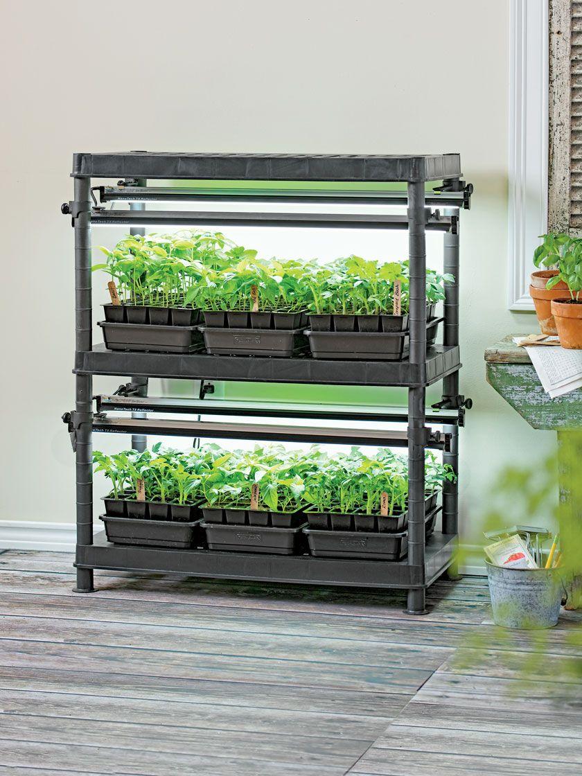 StacknGrow Light System 2Tier Gardener's Supply in
