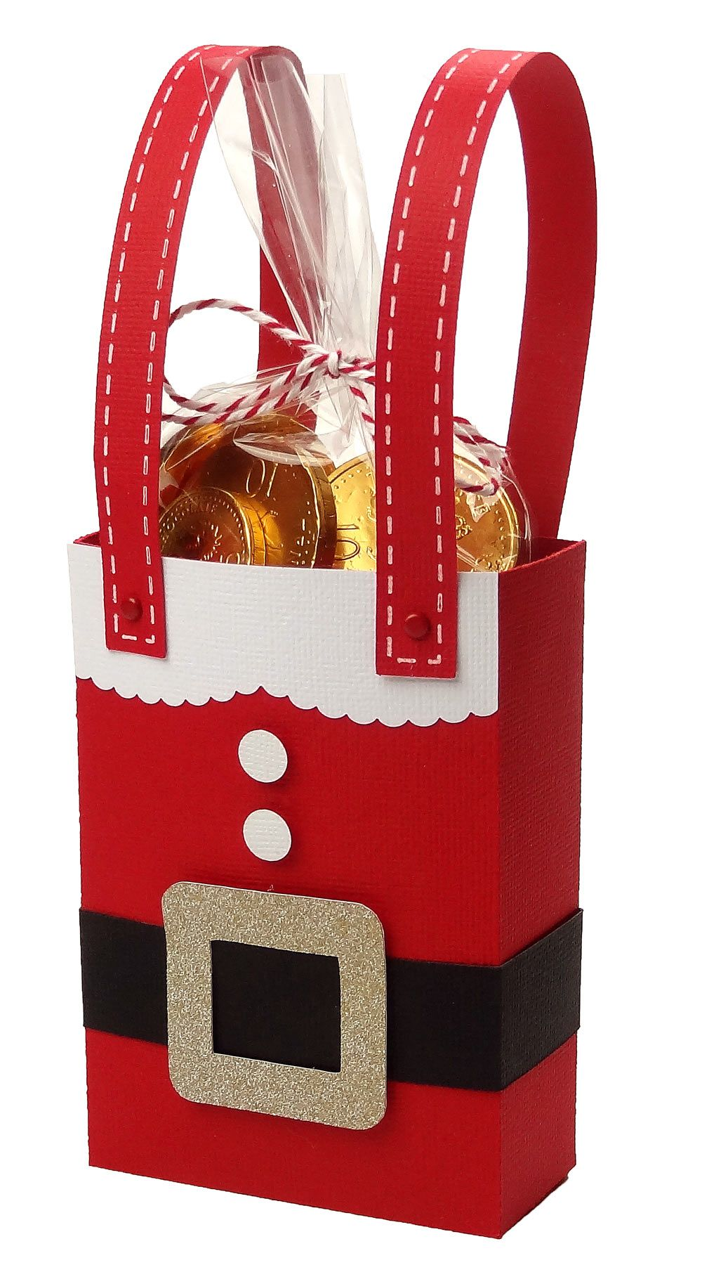 Santa Christmas Gift Bag By Pazzles Design Team Member Joanna Wright Perfect For Classroom Or Neighbor Treats