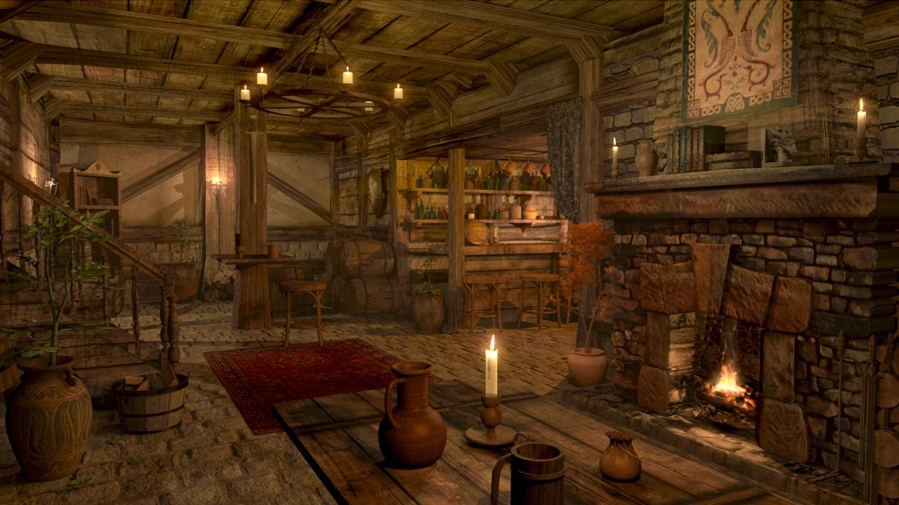 Fireplace Sounds Medieval Tavern Inn Ambience 1 Hour