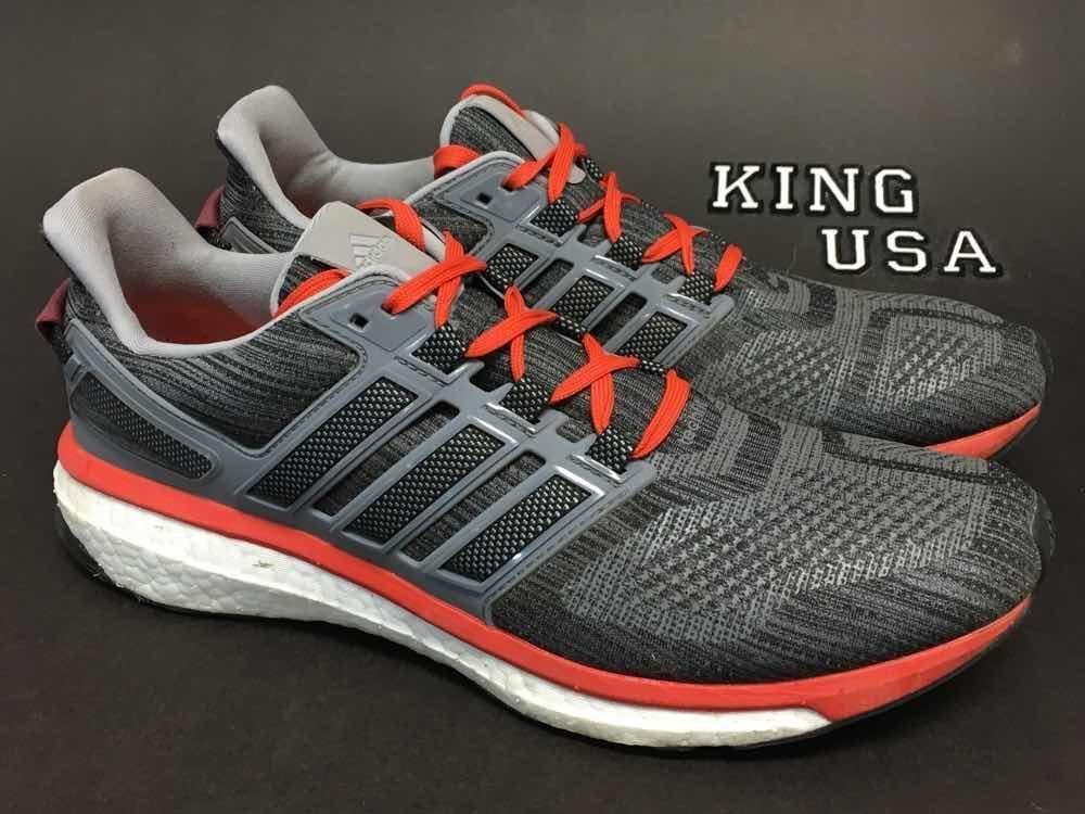8c5142e728b8 Mens Adidas Energy Boost 3 Running Athletic Shoes BB5785 Gray Orange ...