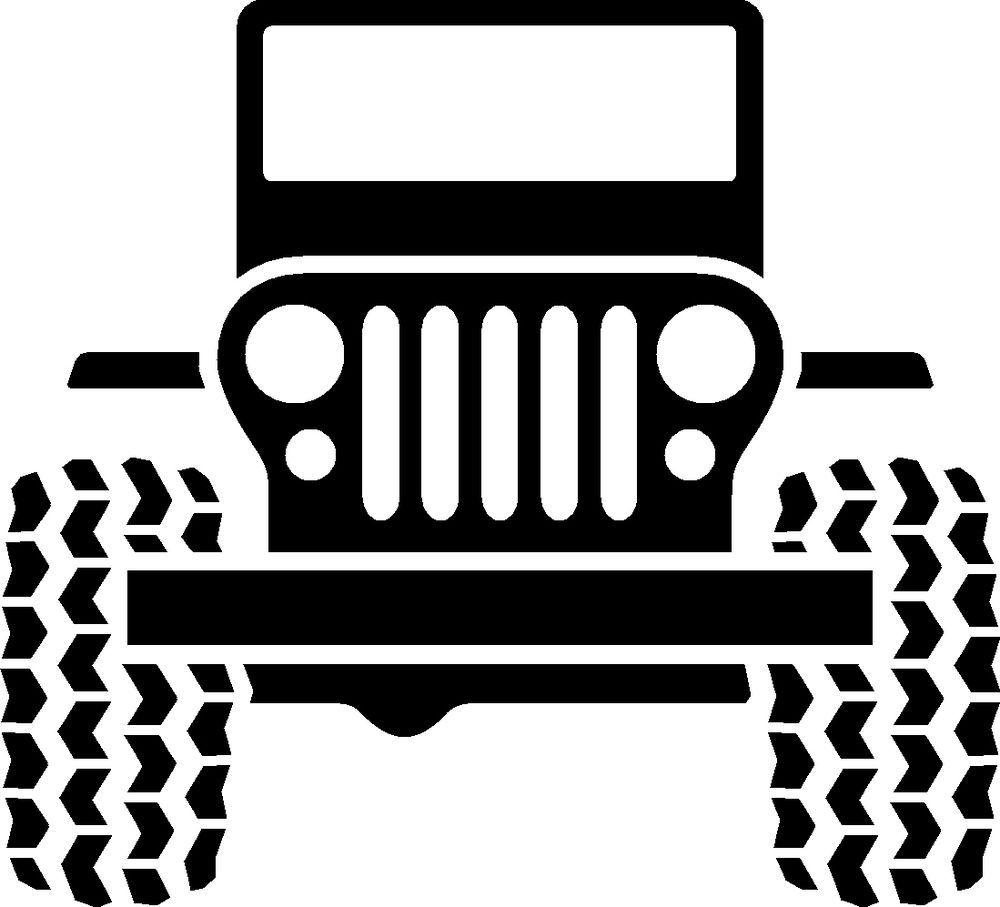 Jeep Logo Vinyl Decal Wrangler Cherokee Tj Yj Xj Wagoneer