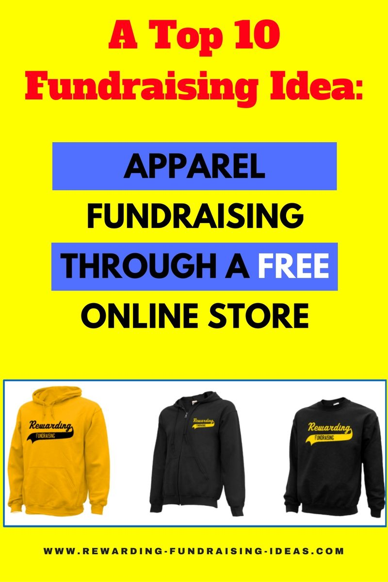 online apparel #fundraising - one of the top 10 fundraising ideas