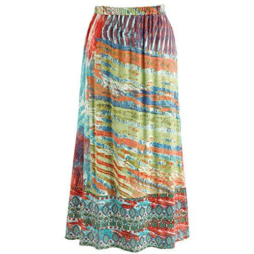 Women's Peasant Broom Skirt - Landscape Of Color Boho Ankle Length >>> Click on the image for additional details.(It is Amazon affiliate link) #likeforlike