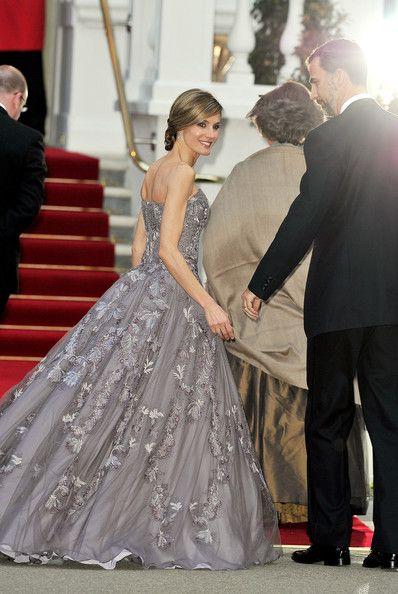 Queen Letizia of Spain in Royal Wedding - Pre-Wedding Dinner ...