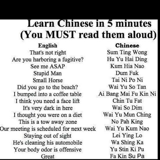 Chinese Mad Gab Lol This Is Awesome Makes Me Laugh Pinterest