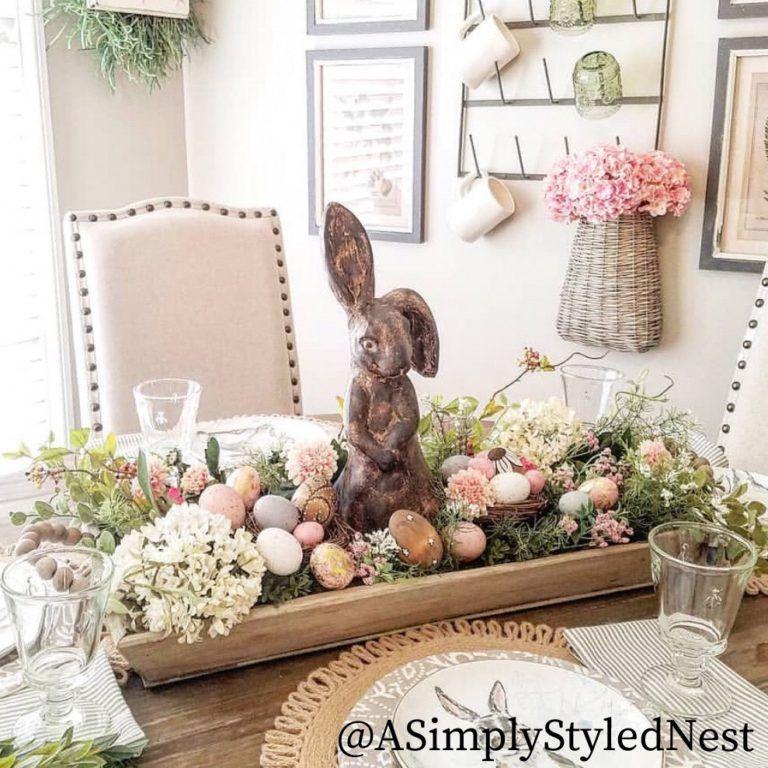 Spring Dough Bowl Ideas How To Style A Dough Bowl For Spring Easter Spring Easter Decor Easter Centerpieces Spring Table Decor