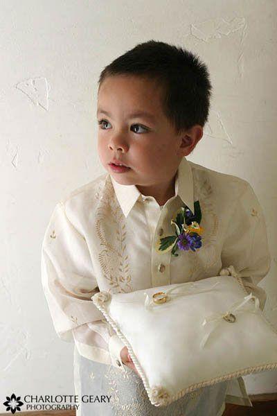 So Cute I Want The Ring Bearer To Wear A Barong Filipiniana