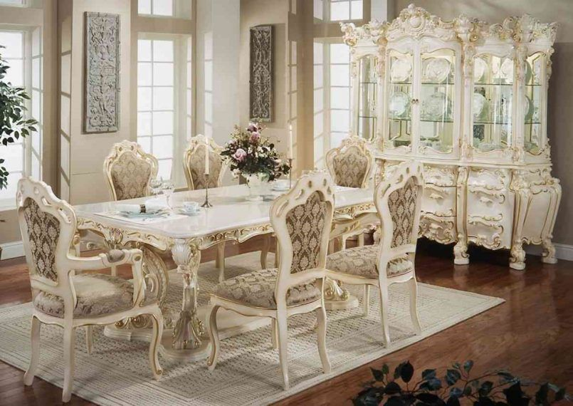 Dining Room Victorian Set Candle Holder Flower Vase Wall Decoration Window Green Plant Curio Cabinet