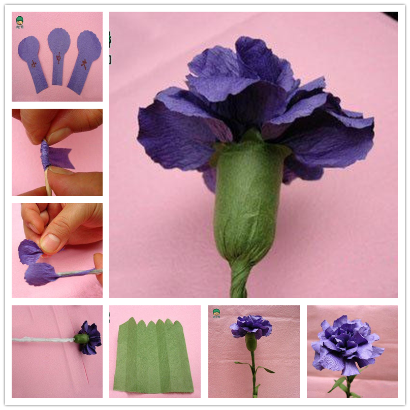 Happy Mother S Day Make A Carnation For Mom Paper Flowers Diy Paper Flowers Craft Tissue Paper Flowers