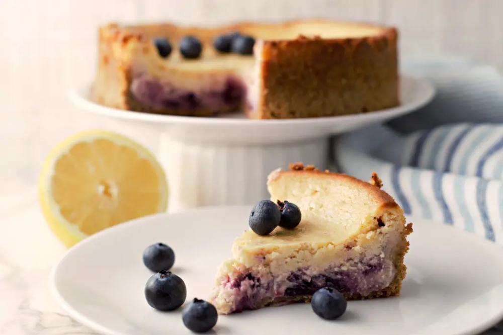 Lemon Blueberry Cheesecake Small Batch Recipe for Two • Zona Cooks #lemonblueberrycheesecake
