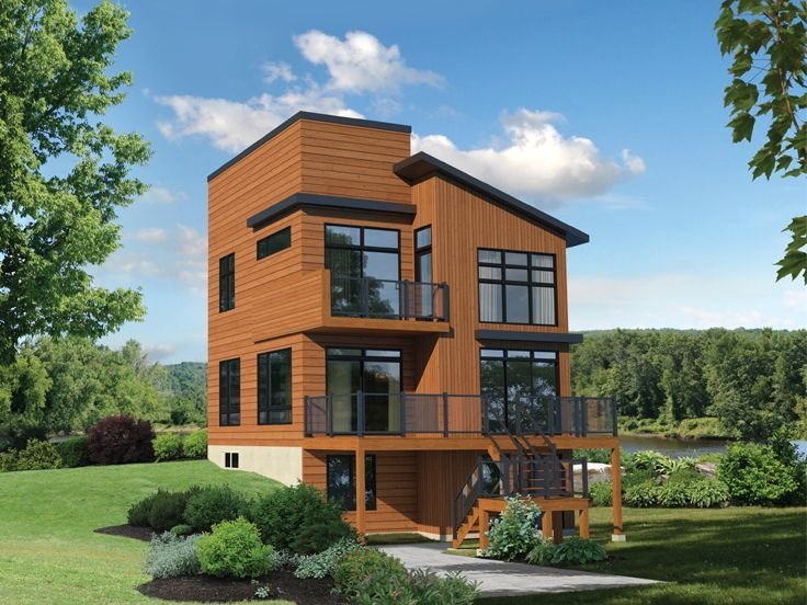 072H-0244: Modern House Plan with Walkout Basement Fits ...