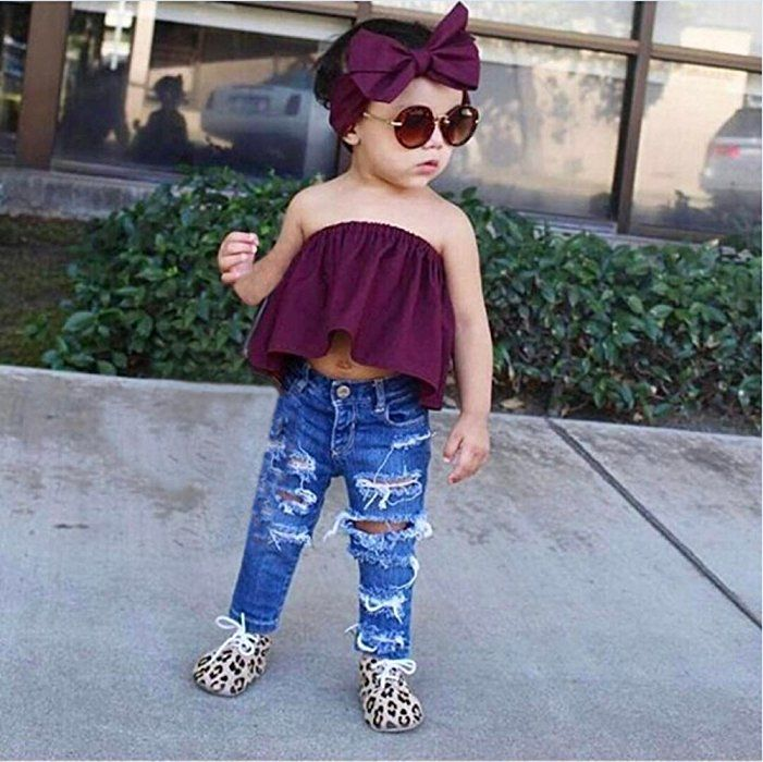 8860ca7f0 Fashion Newborn Toddler Baby Girls Solid Sleeveless Off Shoulder ...