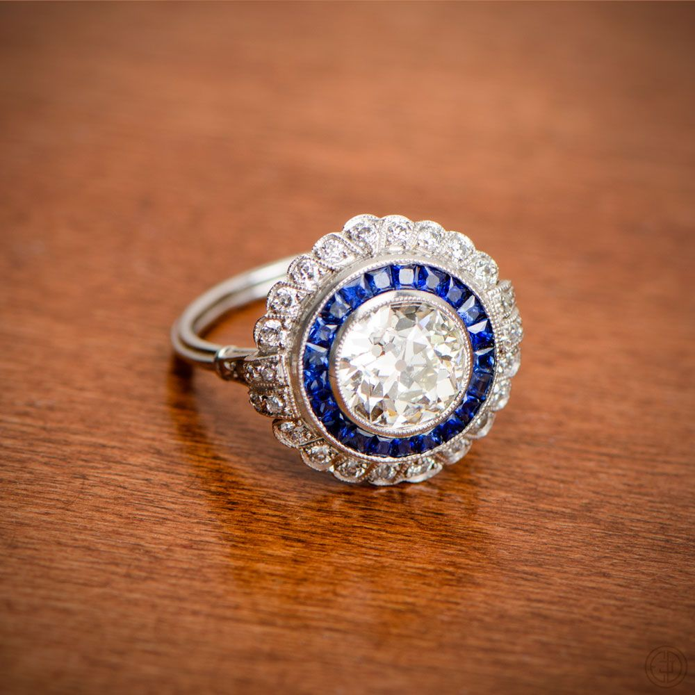 1 66ct Fl Estate Diamond Engagement Ring