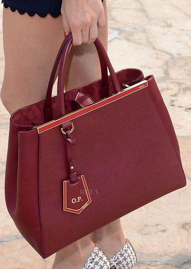 69eebc3878 Olivia Palermo - Fendi  2Jours Elite  Leather Shopper