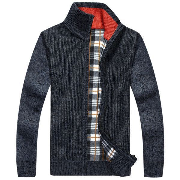 Speed Hiker Cardigan Sweaters Men Thicken Knitwear cheap Stand ...