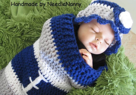 Dallas Cowboy Baby Girl Or Boy Cocoon Swaddle Sack Costume Snuggle ...