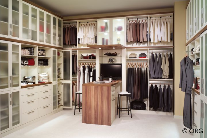 Perfectly organized walk-in closet! From HomeORG.com.