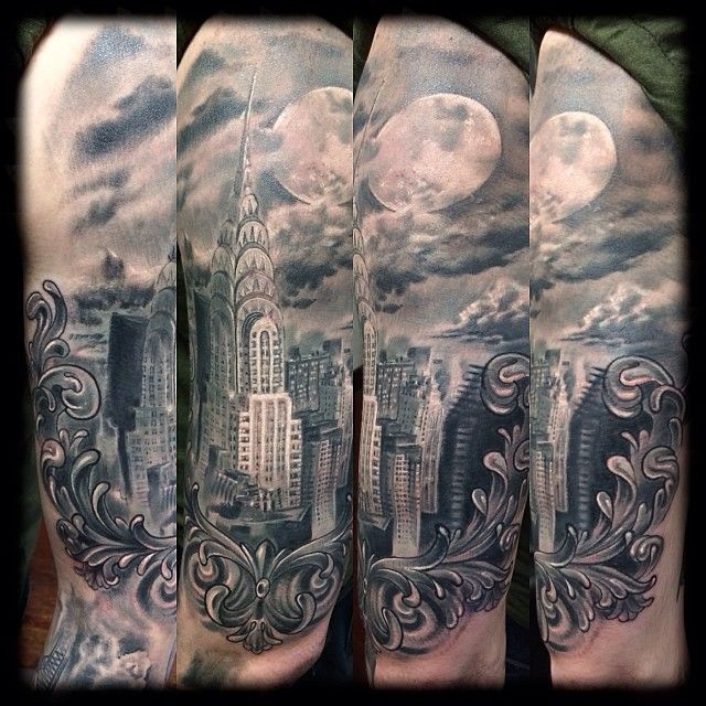 Chrysler Building Tattoo Chrysler Building Nyc Tattoo Tattoos