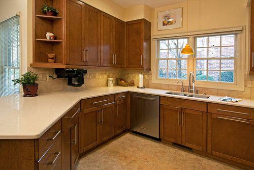 Tile Backsplash Cherry Cabinets Gl Design Pictures Remodel Decor And Ideas