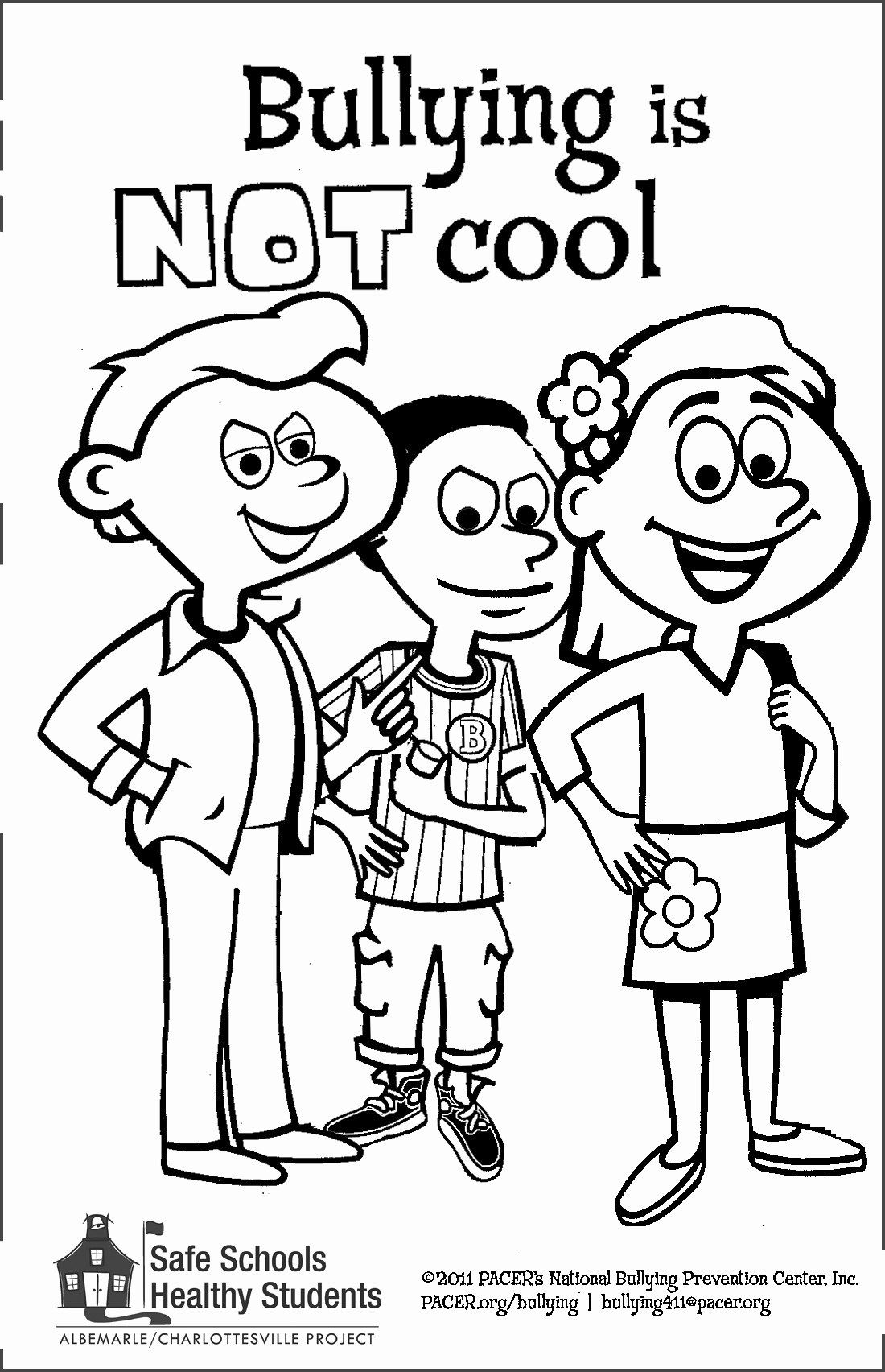 Anti Bullying Coloring Pages Free