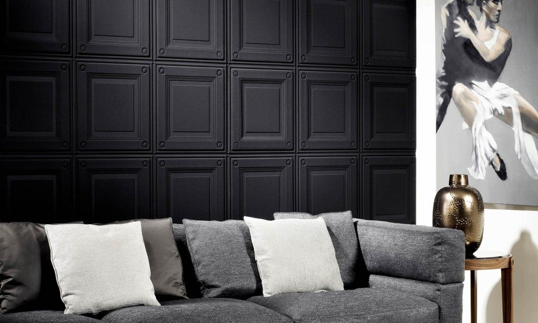 Caisson | Eclipse, a 3D textile wallcovering in black & white | Collections | Arte wallcovering