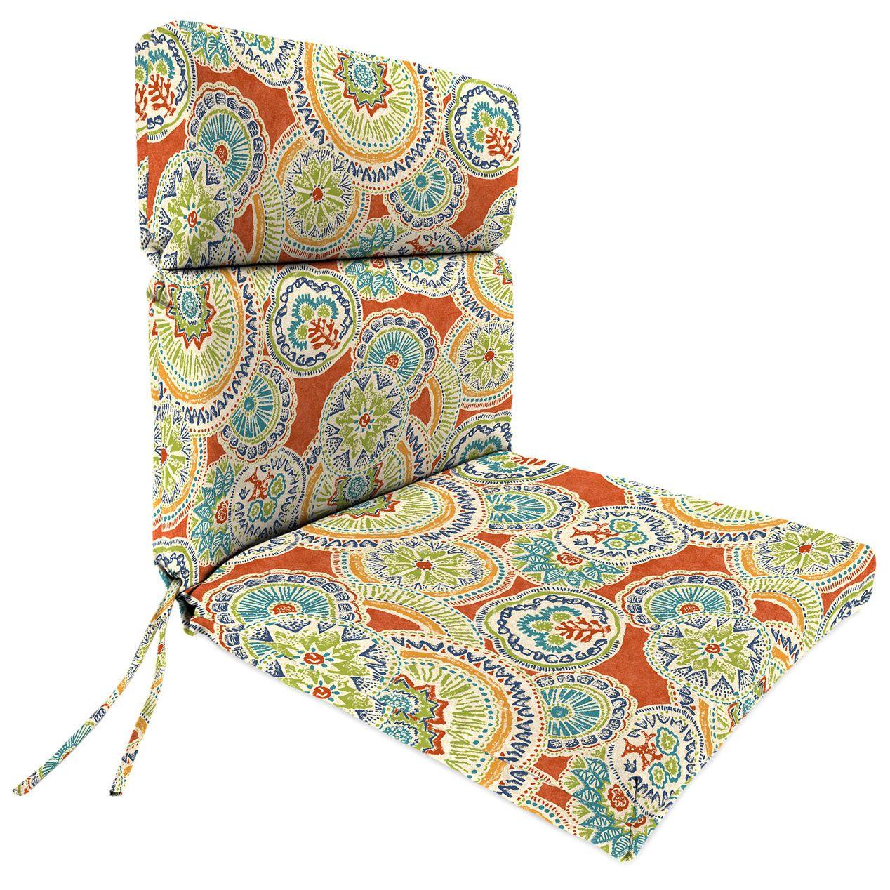 Amanda Poppy Steel Hinged Chair Cushion