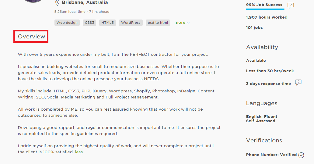 How To Create An Upwork Profile Best Upwork Profile Examples And Tips Upwork Profile Upwork Company Profile Template