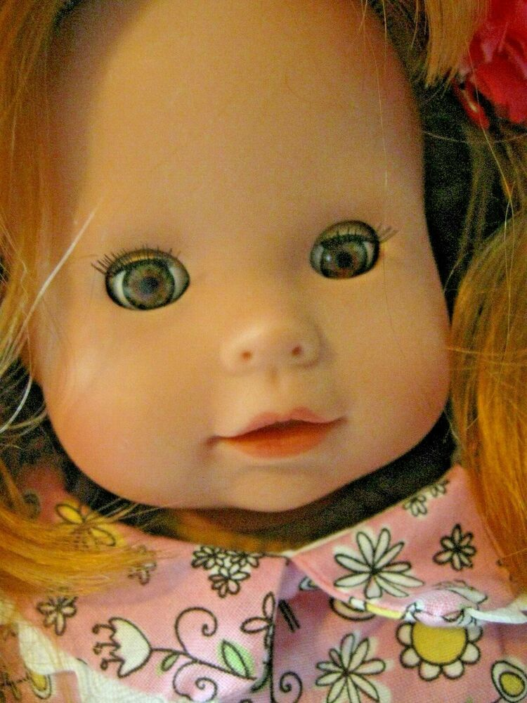 Gotz Puppe Redhead Doll 16 Bown Eyes Outfit Germany Doll Red