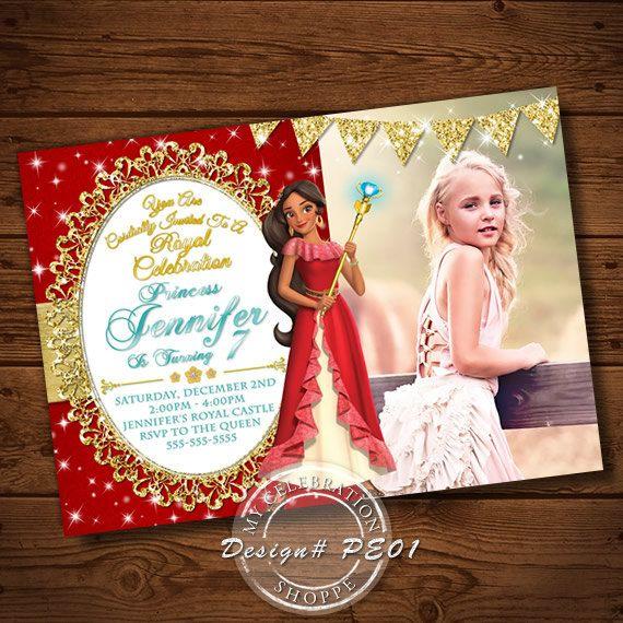 Princess Invitation Elena Of Avalon Invitations Digital File Birthday Printables Sparkle Party