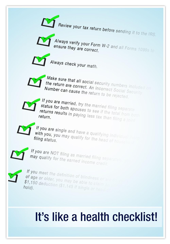 Tax problems tax checklist tax services checklist icon