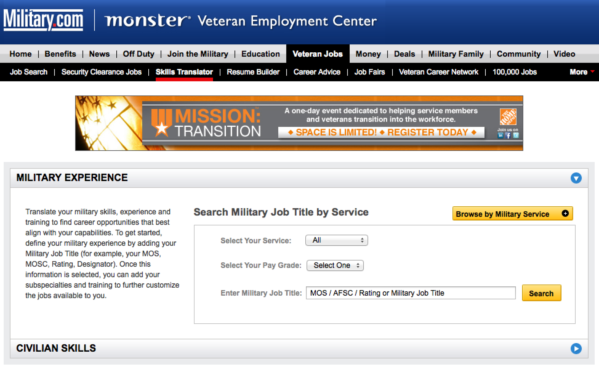 This Skills Translator Takes Your Military Job Title Service And