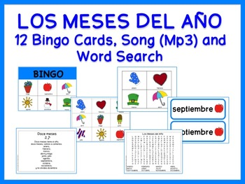 Months Of The Year Games And Song Spanish Months In A Year Spanish Teaching Resources Learn Spanish Free