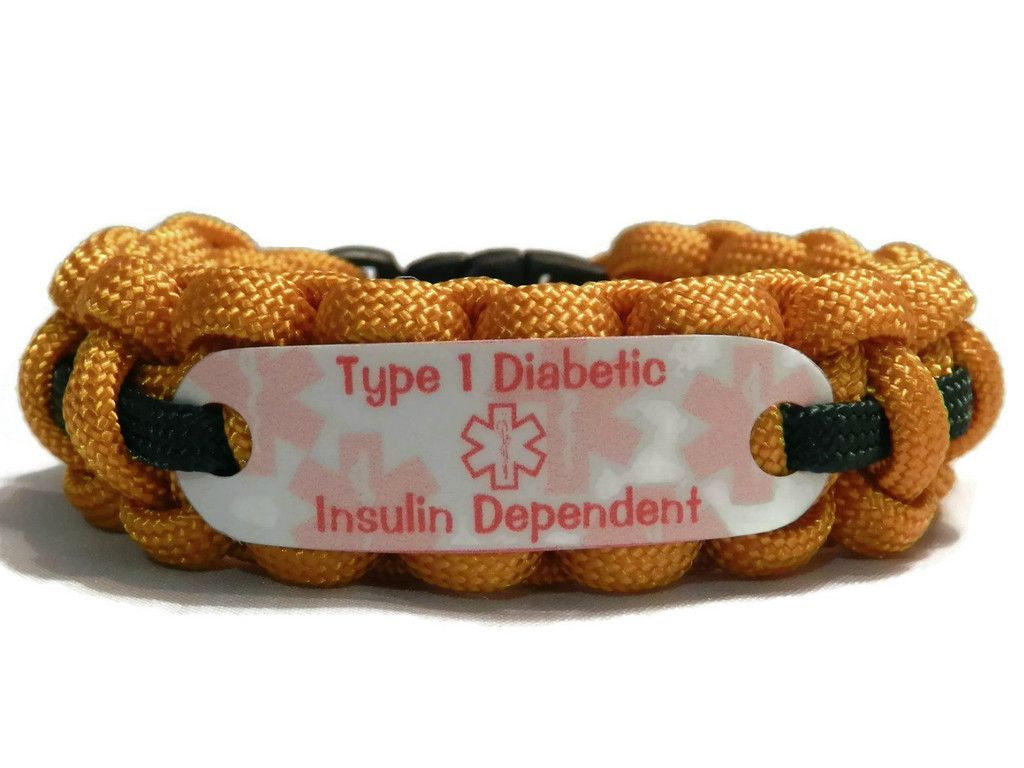 diabetes wristband bracelet asp p large diabetic white type