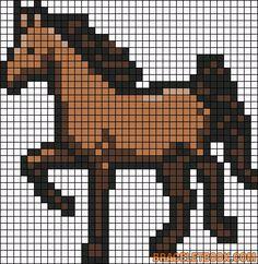 Cheval N1 Philo Grille Tricot Pixel Art Minecraft Et