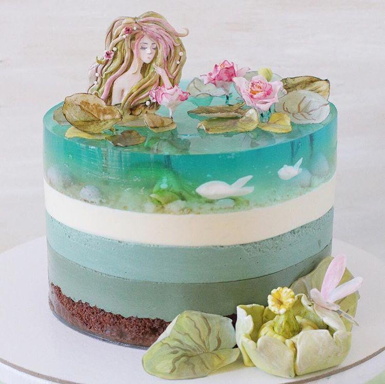 Swipe to see the details of this absolutely amazing mermaid cake by @juliesakharova 💕🐠🌸🧜♀️ - - - - - #cakes #cake #cakestagram #cutecake…