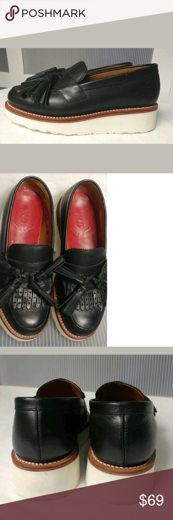 a016a30606d GRENSON Juno Leather Frill Loafers UK(Grenson) 3.5 GRENSON Juno Leather  Frill Loafers UK