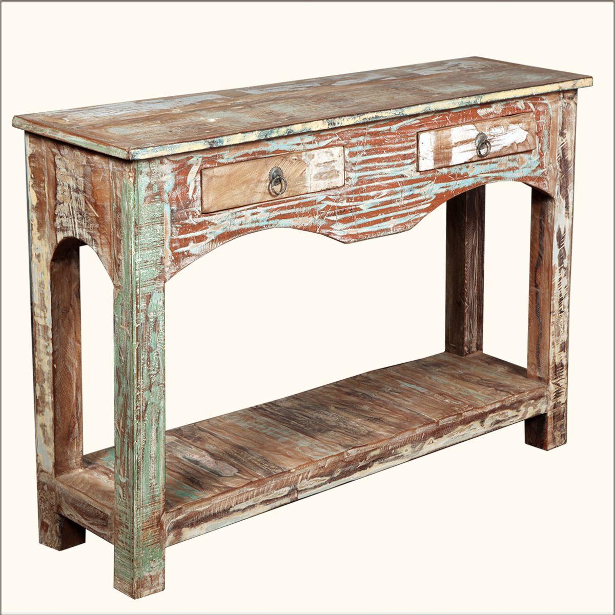 Encouraging Distressed Wood Sofa Table Luxury Distressed Wood