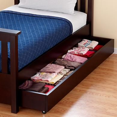 Trundle without the mattress can be used for storage. | ZiZi