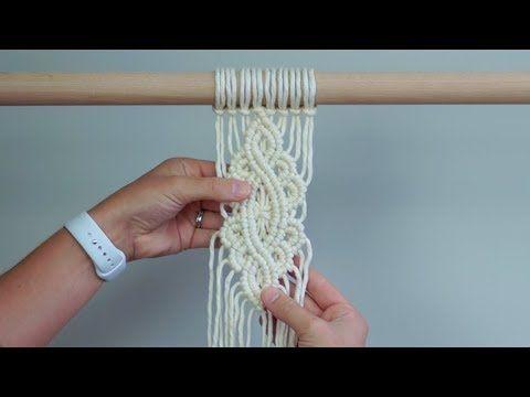 DIY Macrame Tutorial - Intermediate Pattern Using Double Half Hitch Knots! - YouTube #macrame