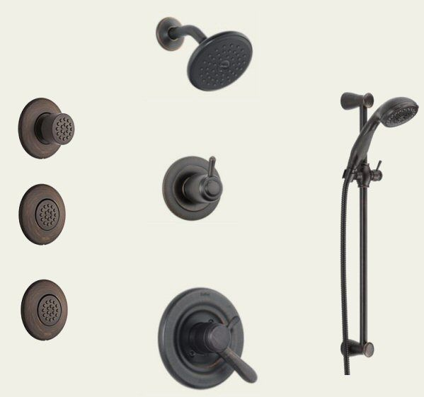 Lahara Series Single Handle 17 Water Efficient Shower Handheld And Body Spray Trim Kit Click To Enlarge