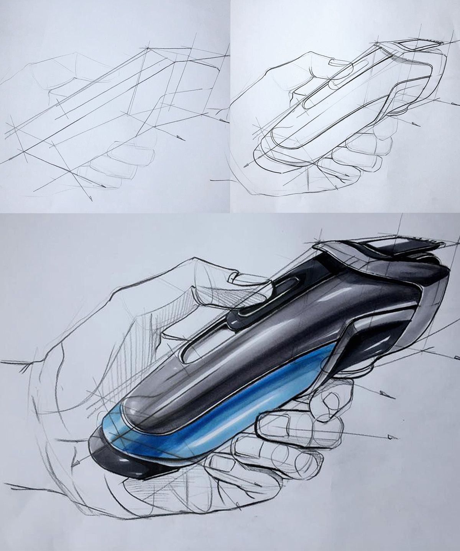 Industrail Design Sketch & Marker Rendering Tutorial on