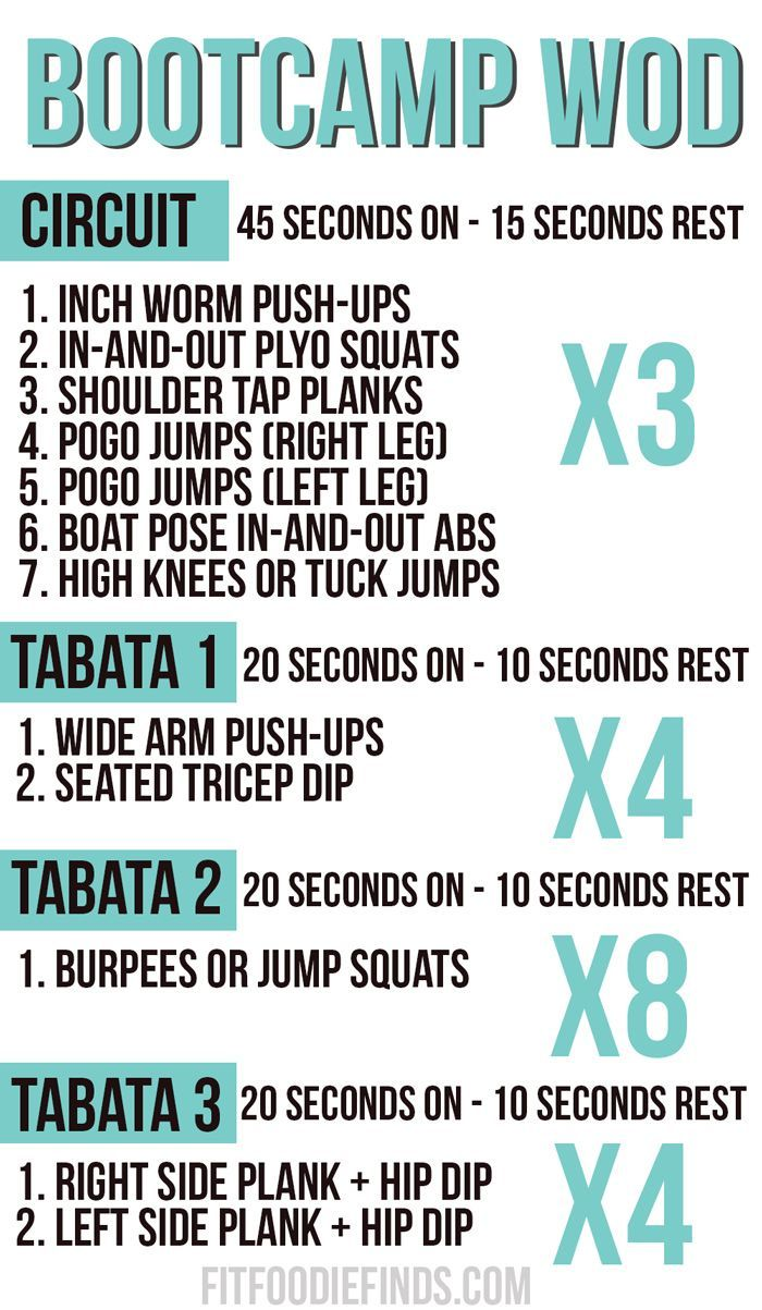 Bootcamp WOD #Fitfluential #MOVE | Fitness - gym | Pinterest ...