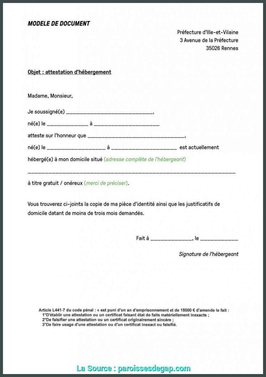 exemple de lettre hebergement - Modele de CV  Exemple de lettre