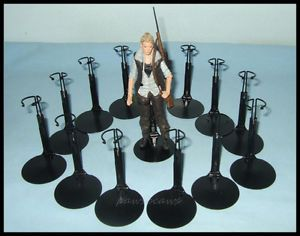 12-Action-Figure-DISPLAY-STANDS-fit-5-5-Walking-Dead-6-STAR-WARS-BLACK