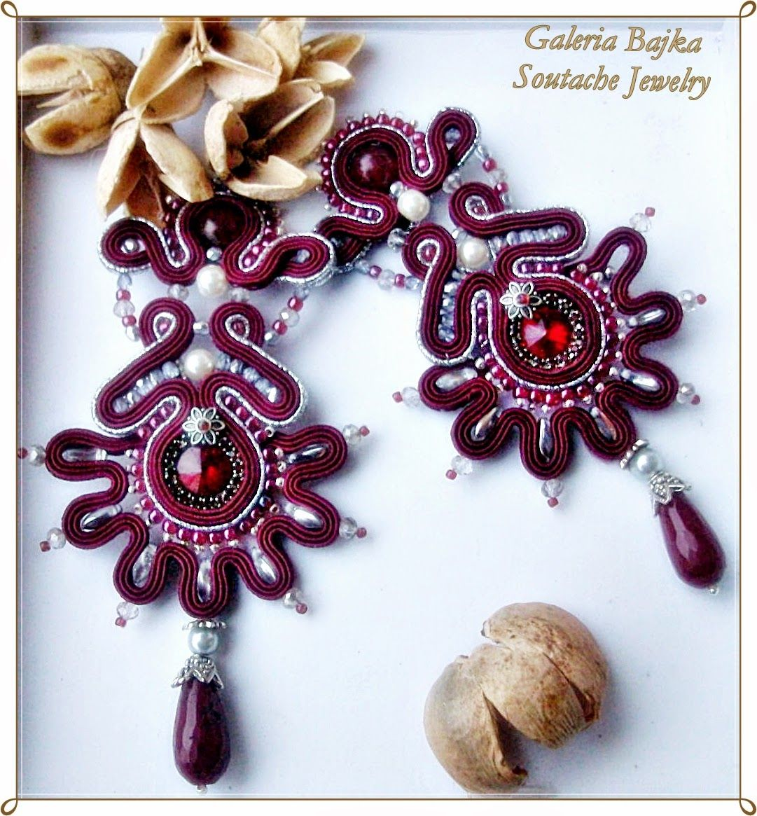 Galeria bajka soutache jewelry kolczyki earrings