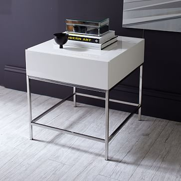 Lacquer Storage Side Table Living Room Furniture Tables
