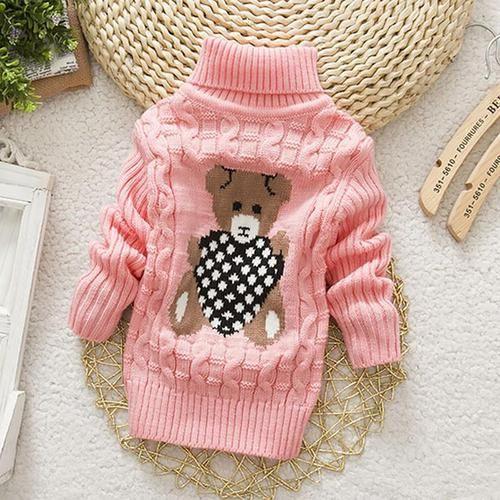 30b7cb6e1 Unisex Baby s Turtleneck Sweater Autumn Winter Cartoon Design Unisex ...