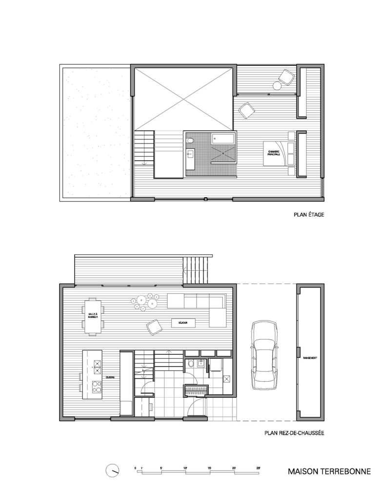 Gallery of maison terrebonne la shed architecture 15 for Einfamilienhaus plan
