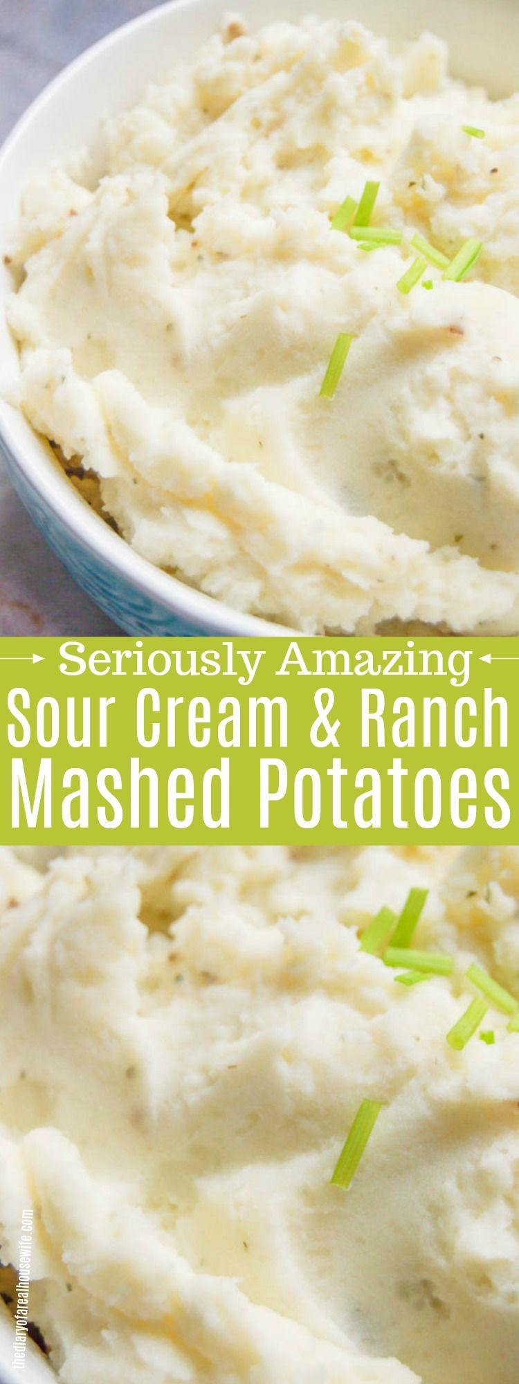 Smooth And Creamy Homemade Sour Cream And Ranch Mashed Potatoes Sidedish Thanksgiving Mashedp Homemade Sour Cream Sour Cream Potatoes Ranch Mashed Potatoes